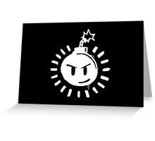 Funny Bomb - Black T Greeting Card