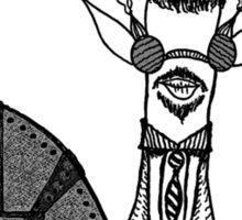 Frederick in Black & White Sticker