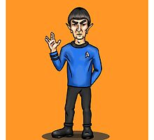Live Long and Prosper - Spock by Billi French