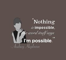 Audrey Hepburn Quote Unisex T-Shirt