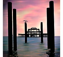West Pier Silhouette Photographic Print