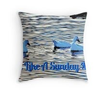 Easy Like A Sunday Morn Throw Pillow