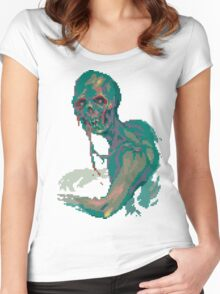 Pixel Zombie Women's Fitted Scoop T-Shirt