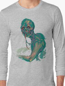 Pixel Zombie Long Sleeve T-Shirt