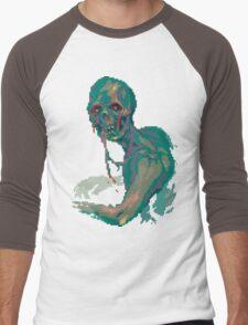 Pixel Zombie Men's Baseball ¾ T-Shirt