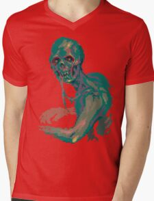 Pixel Zombie Mens V-Neck T-Shirt