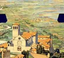 Vintage Litho Travel ad Assisi Italy Sticker
