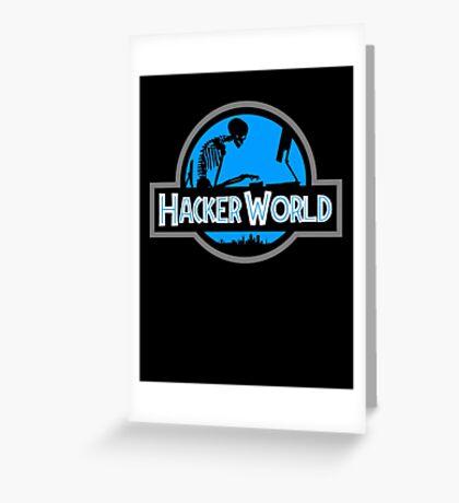 Hacker World Greeting Card