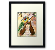 THE NESTING WOMAN Framed Print