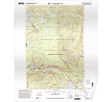 USGS Topo Map Washington State WA Spiral Butte 243898 2000 24000 Poster