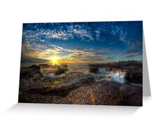 Kiama Sunrise HDR v1 Greeting Card