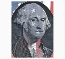 George Washington and Stars and Stripes Kids Tee