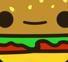 Yummy kawaii burger Sticker