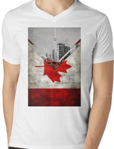 Flags - Canada Mens V-Neck T-Shirt