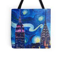Starry Night in New York - Van Gogh inspired Tote Bag
