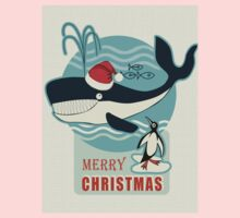 Santa Claus and the Whale.... Kids Tee