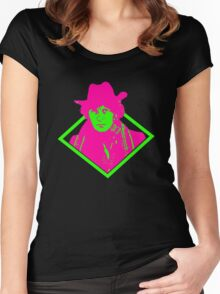 Neon #4 Women's Fitted Scoop T-Shirt