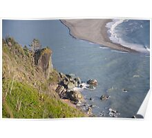 View to Coastal Trail North in far distance Poster