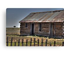Old Shack and Lone Tree Canvas Print