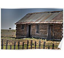 Old Shack and Lone Tree Poster