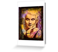 Goodbye to Last Platinum Blonde Greeting Card