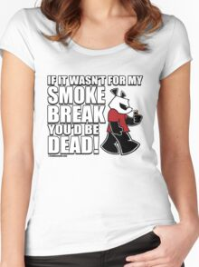 Pissed OFF Panda Smoke Break Women's Fitted Scoop T-Shirt