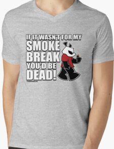 Pissed OFF Panda Smoke Break Mens V-Neck T-Shirt