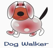 Dog Walker T-shirt design by Dennis Melling