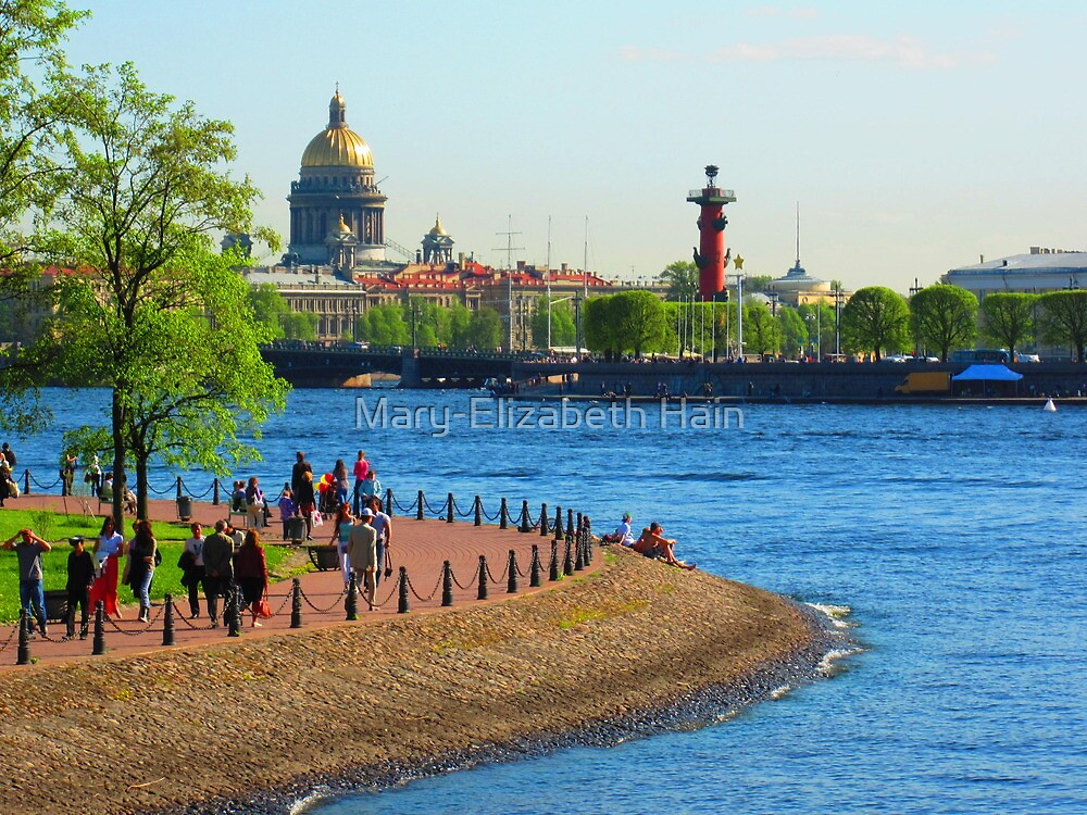 Spring Sights Across the Splitting Neva by M-EK