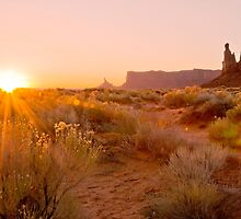 First light in Monument valley by Stephen Knowles