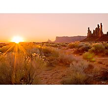 First light in Monument valley Photographic Print