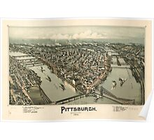 Panoramic Maps Pittsburgh Pennsylvania 1902 Poster