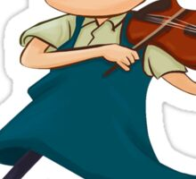 Young Violinist Sticker
