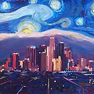 Starry Night in Los Angeles by artshop77