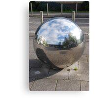 Silver Sphere Canvas Print