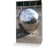 Silver Sphere Greeting Card