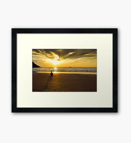 Spend some quality time with yourself Framed Print