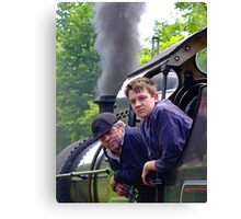 Driver And Fireman Canvas Print
