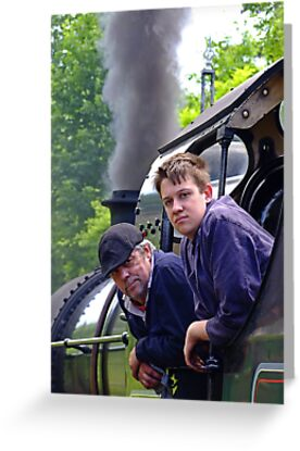 Driver And Fireman by Colin  Williams Photography