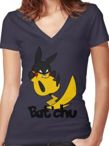 Bat'chu Women's Fitted V-Neck T-Shirt