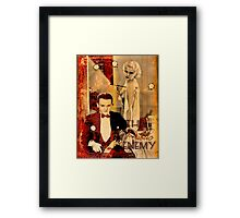 The Gangster's Blonde Girl Framed Print