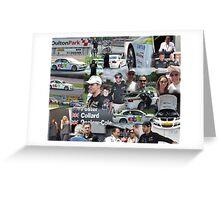 eBay Motors British Touring Cars team at Oulton Park Greeting Card