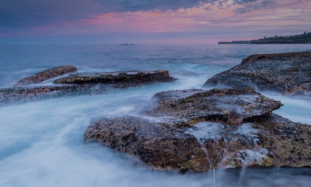 Coogee sunset on the rocks by KeithMcInnes