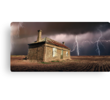 Storm Over Ruin Canvas Print