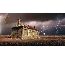 Storm Over Ruin Photographic Print