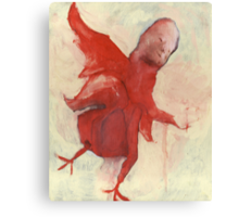 Little Red Chick Canvas Print
