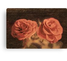 A pair of roses in sketch3  Canvas Print