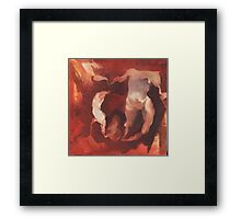 Running from the Red Framed Print