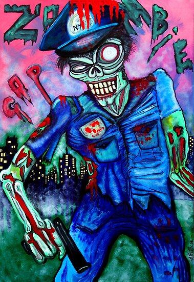 Zombie Cop (Horror Comics, Zombies) by Laura Barbosa