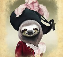 Aristocratic Lady Sloth Oil Painting Style Portrait by jesga